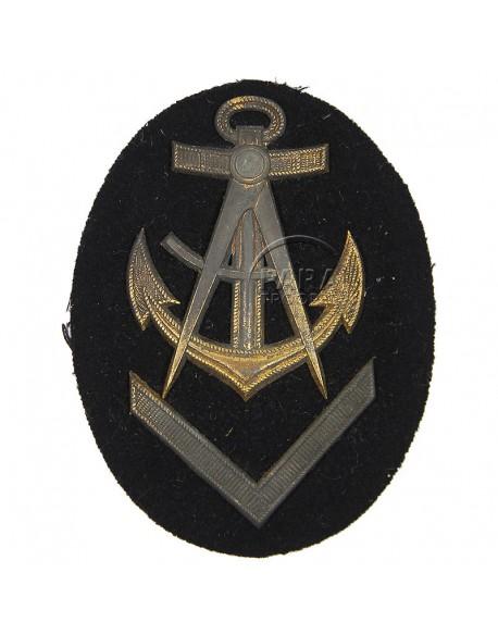Insigne de sous-officier supérieur charpentier Kriegsmarine