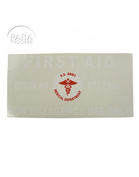 Sticker for First Aid Kit, Motor, Vehicle