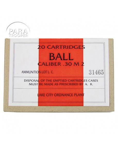 Boîte de cartouches, calibre .30