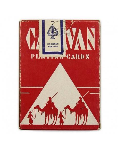 Jeu de cartes à jouer, Caravan, rouge