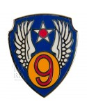Crest métallique de la 9e Air Force