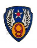 Crest métallique de la 9ème Air Force