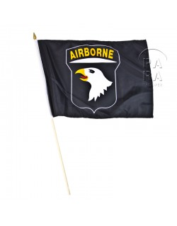 Flag, 101st Airborne Division, black, on stick
