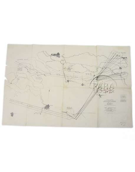 Diagram, Navigation, Market Garden, 1944