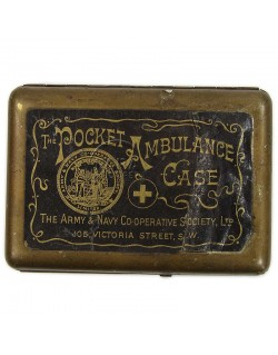Box, Tin, Ambulance case, British