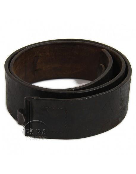 Belt, black leather, 1940