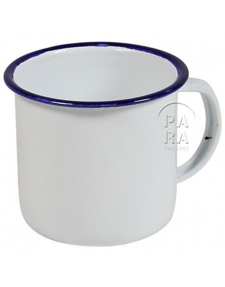 Cup, Enameled metal, white