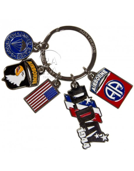 Key chain, US Airborne (Tassel)
