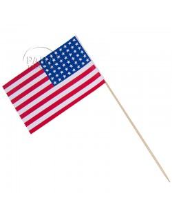 Drapeau USA, petit modèle, sur bâton
