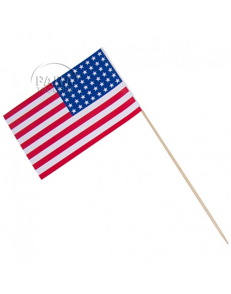 Flag, USA, small model, on stick