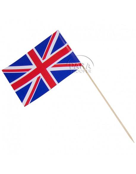 Drapeau Britannique, petit modèle, sur bâton