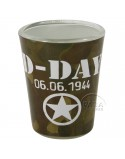 Verre à liqueur D-Day camouflé