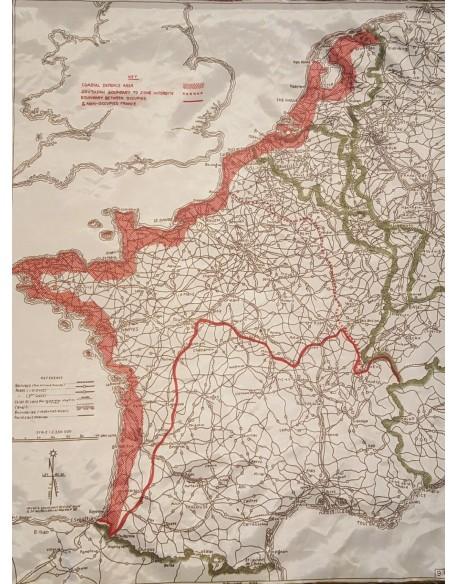 Carte d'évasion, MI9, France