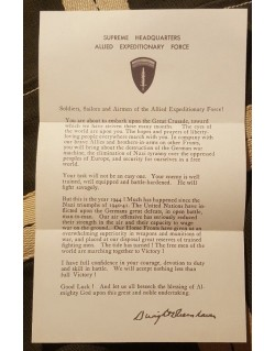 Message Eisenhower, 5 juin 1944