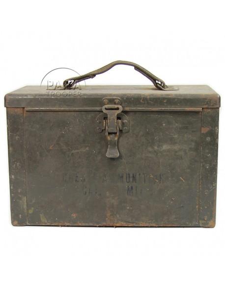 Boîte à munitions, calibre .50, 1er type