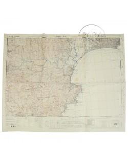 Carte de Cannes Nord-Ouest (Sud de la France), 1944