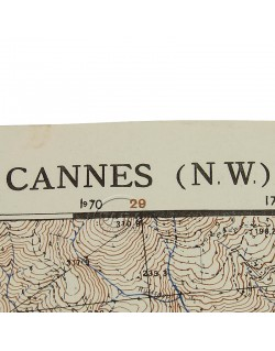 Map, Cannes Northen West (South of France), 1944