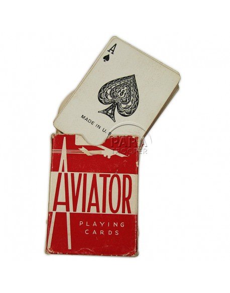 Jeu de cartes Aviator, rouge