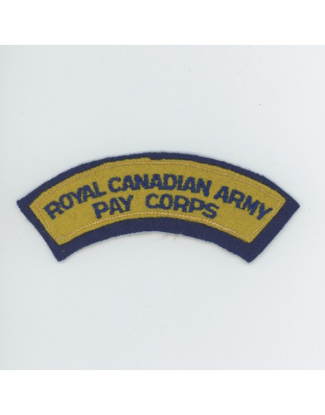 Title Royal Canadian Army Pay Corps