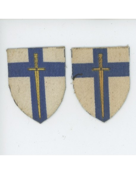 Paire insignes 2nd British Army, Normandy, Caen, Falaise, Market Garden