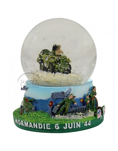 Snow globe, jeep, small