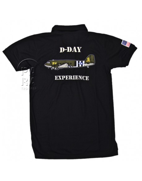 Polo, black, 101st Airborne, D-Day Experience