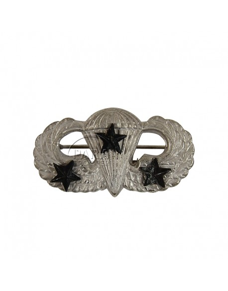Wings, Parachutist, with pin, 3 stars