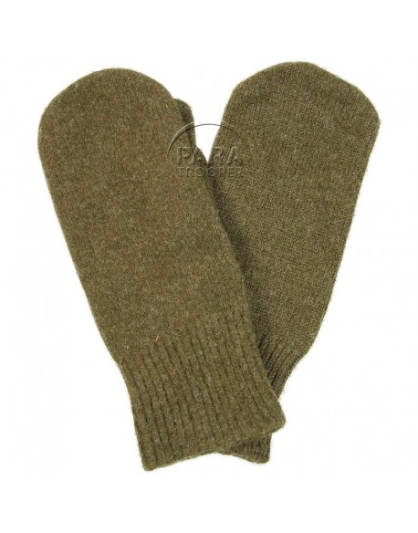 Mittens, wool, trigger finger, US Army