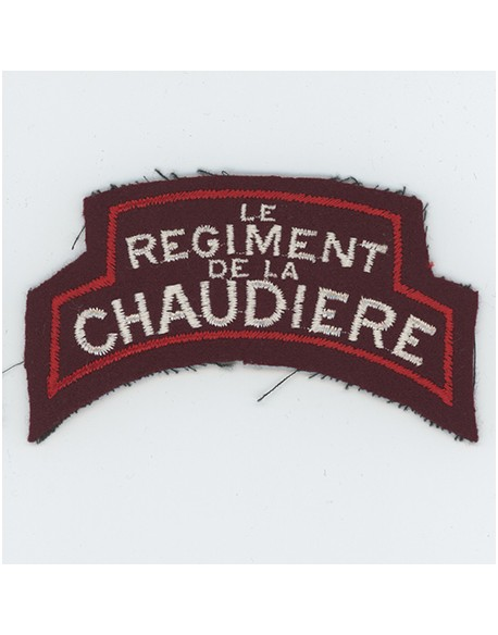 Insigne bataille de Normandie Rgt de la Chaudiere
