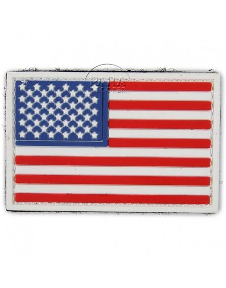 Insigne tactique PVC 3D, drapeau américain