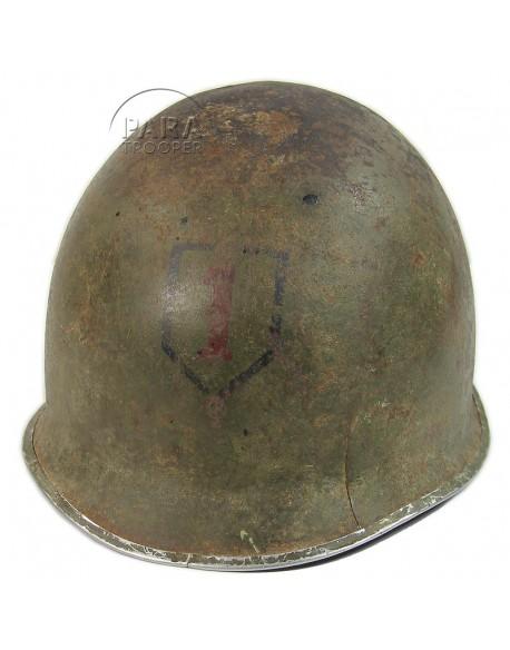 Casque USM1, terrain, 1ère Division d'Infanterie