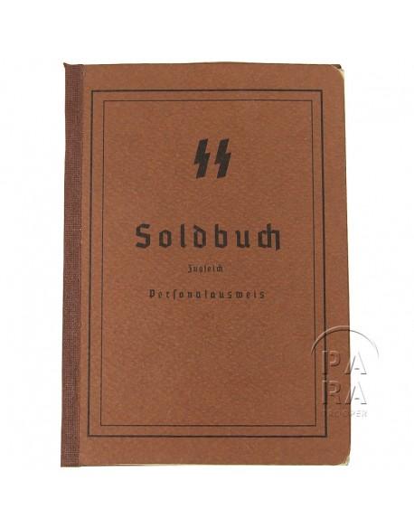 Soldbuch, Waffen SS, aged
