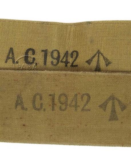 Paire de bretelles en L, A.C., 1942