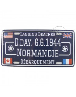 Plaque postale D-Day 6.6.1944 Normandie