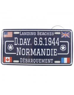 D-Day 6.6.1944 Normandie postal plaque