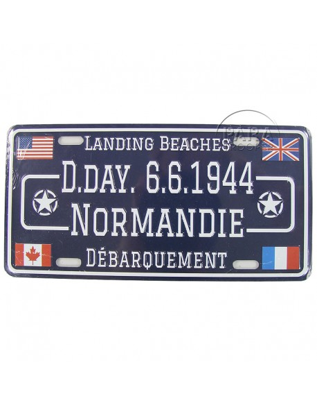 D-Day 6.6.1944 Normandie postal plaque