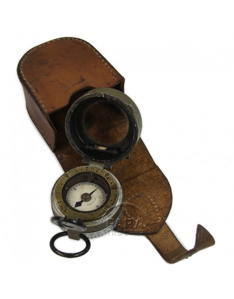 Compass, Artillery with leather pouch, 1918