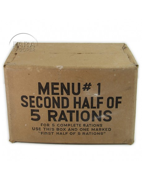 Carton de ration 10 in 1, menu n°1