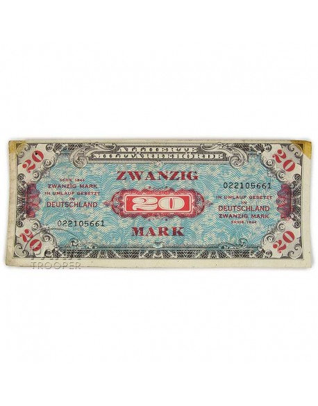 Billet de solde, 20 Mark (monnaie d'invasion), 1944