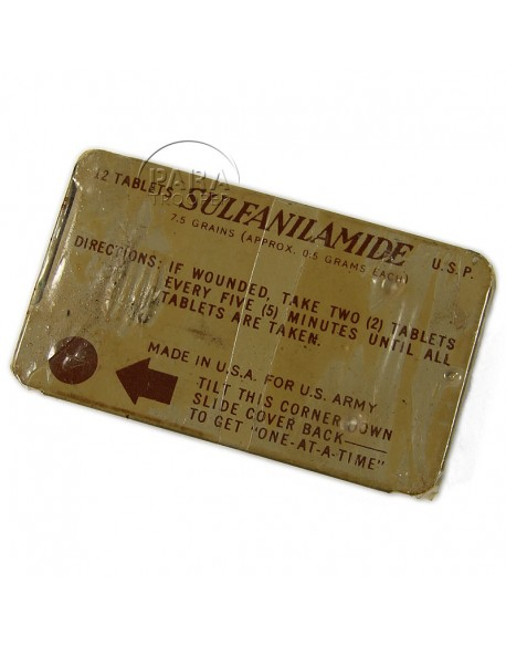 Packet, Sulfanilamide, Lederle