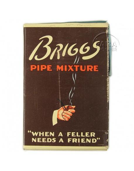 Paquet de tabac américain, Briggs, 1944