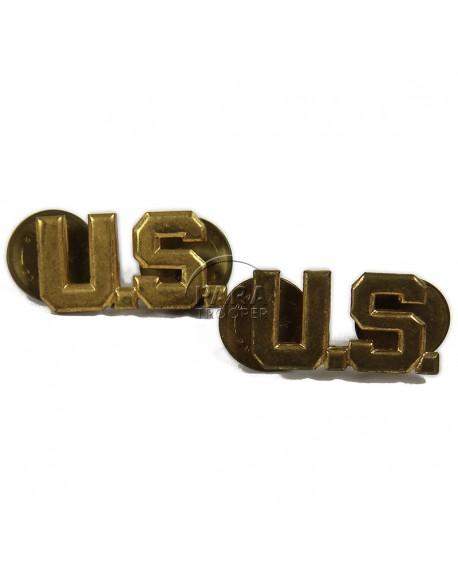 Paire d'insignes de col officier US