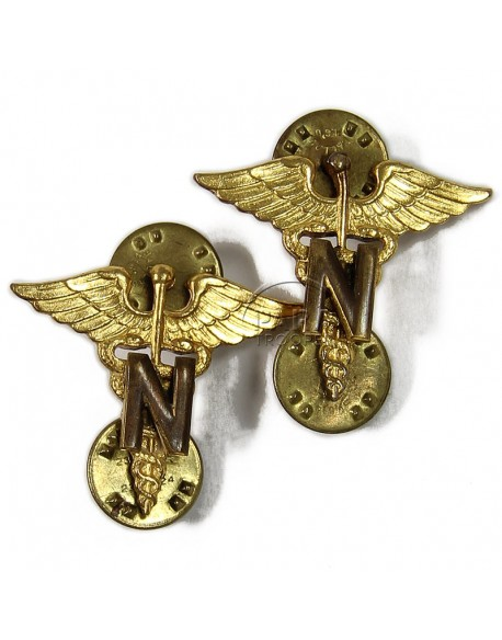 Insignia, Colalr, Nurse Officer, pair