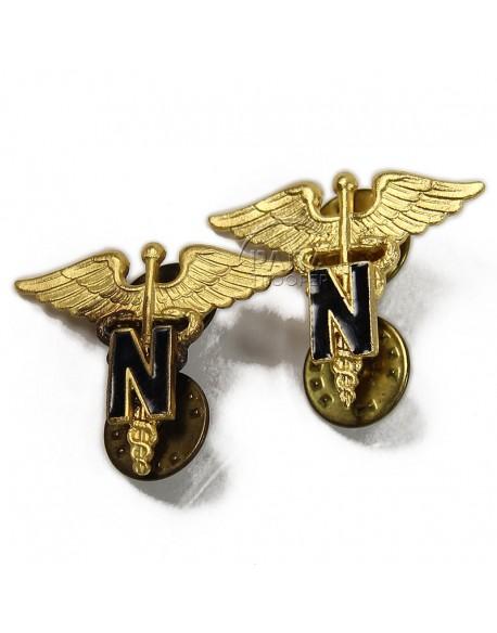 Insignes de col officier Nurse, N.S. Meyer