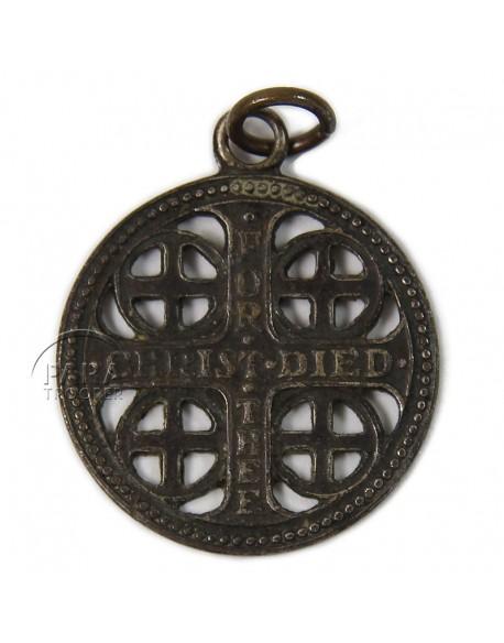 Médaillon religieux, US, War Cross, dog tags
