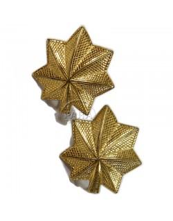 Boucles d'oreilles Major en argent plaqués or