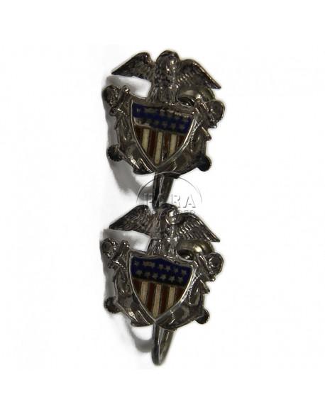 Earrings, US Navy Nurse, Sweetheart, Sterling
