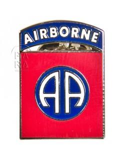 Crest métallique de la 82ème division aéroportée