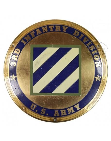 Plate, Enamel, 3rd Infantry Division