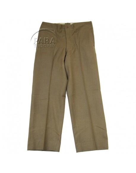 Trousers, Wool, Serge, OD, Light shade, 32x29, 1940